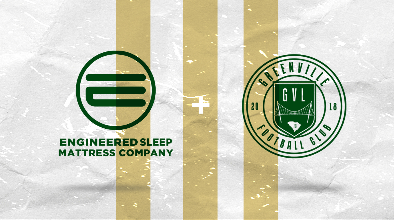 GREENVILLE FC AND ENGINEERED SLEEP ANNOUNCE PARTNERSHIP