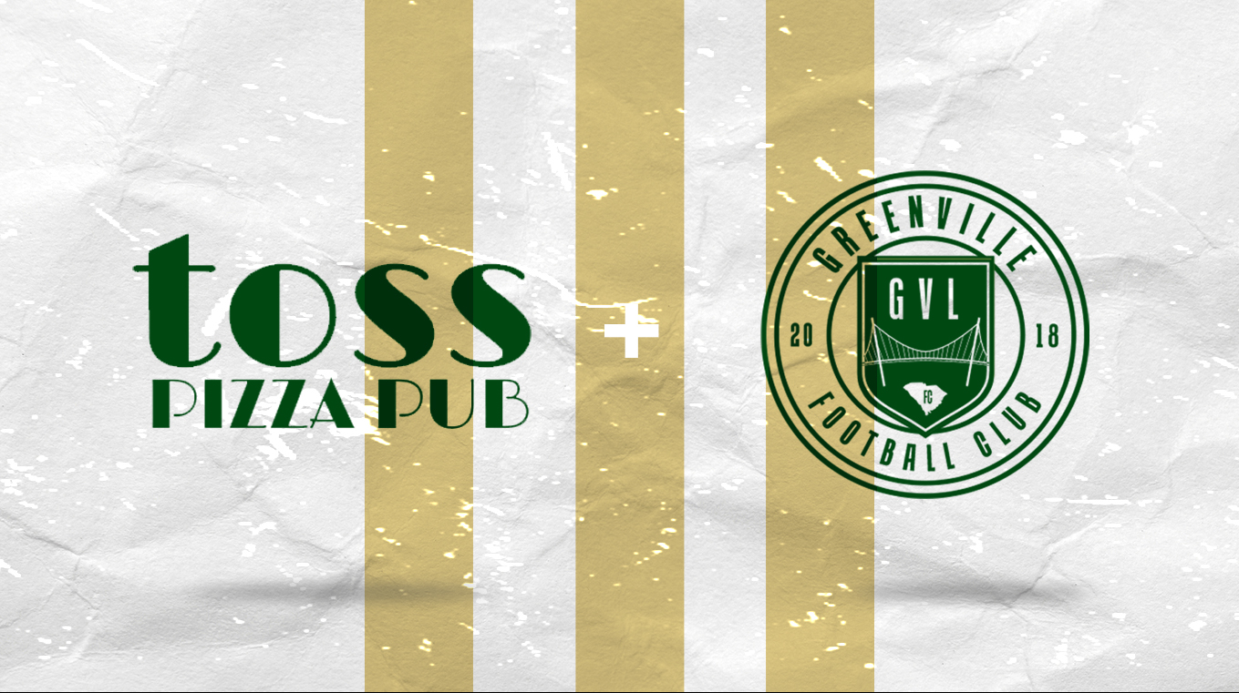 GREENVILLE FC AND TOSS PIZZA PUB ANNOUNCE PARTNERSHIP